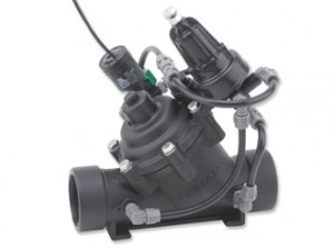 Pressure Reducing Valve with 2-way Latching solenoid control, Manual Selector & flow stem   120-55-LS-2W-M-330x245