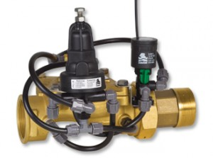 Pressure Reducing Landscape Valve with 3-Way Latching Solenoid Control & inlet Record   GR-42R-55-LS-3W-K